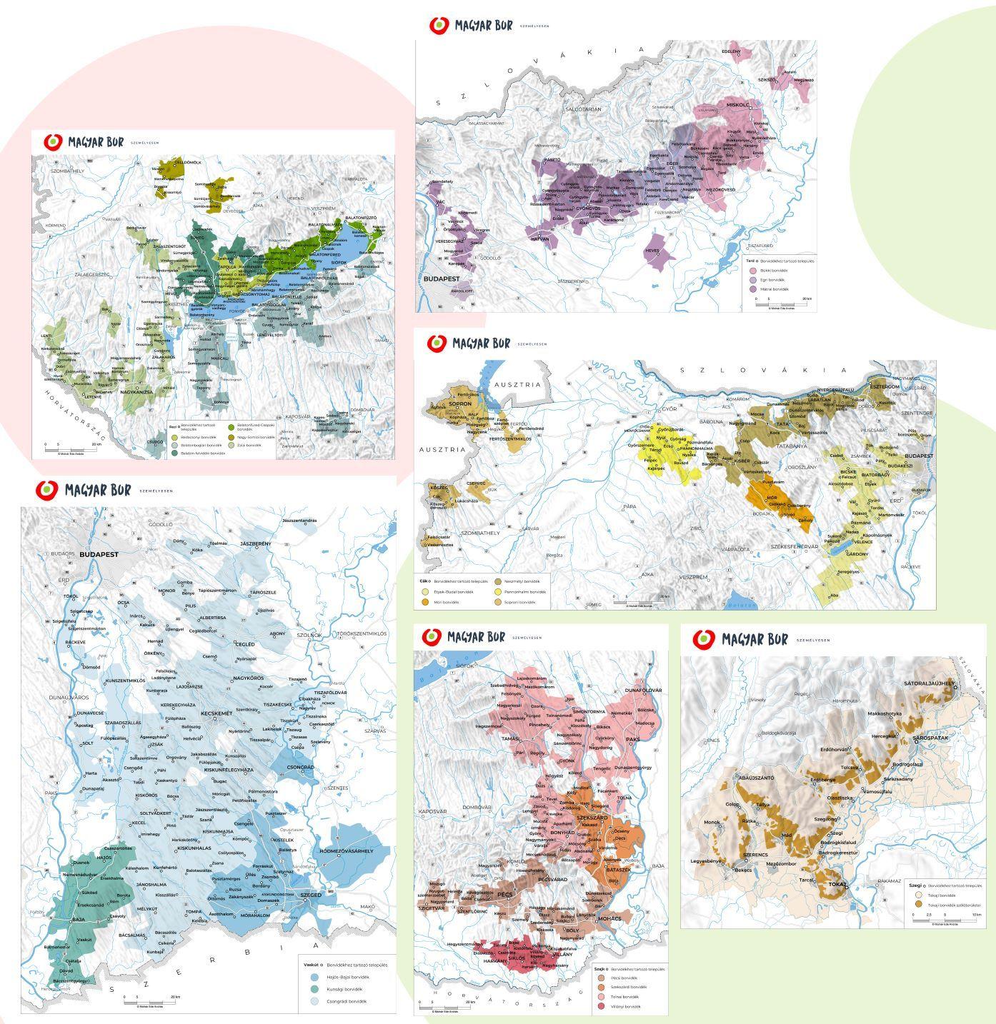 Magyarország bortermő régiói új térképeken